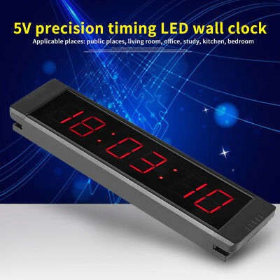 Programmable Remote Crossfit Interval Timer Wall Clock for Fitness Training LY