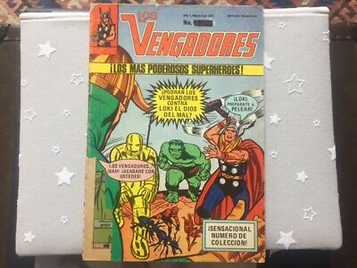 Los vengadores N.1 (The Avengers) Mexican edition 1981