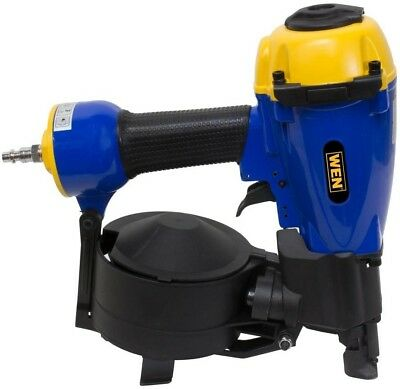 WEN Roofing Nailer Pneumatic Coil 3/4 in. to 1-3/4 in. Adjustable Shingle Guide
