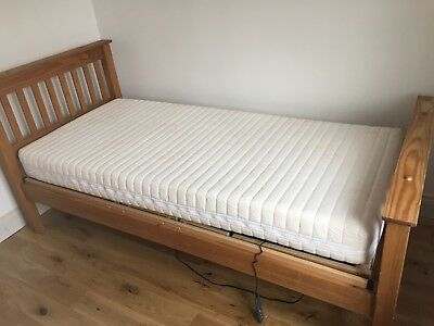 mobility adjustable elecrical bed, solid wood with mattress