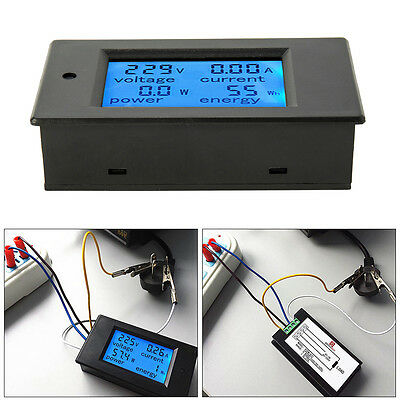 Digital LCD Voltmeter Ammeter Amp Voltage Current Power Volt Meter AC80-260V