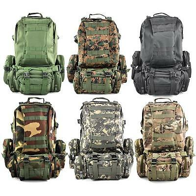 50L Military Molle Assault Tactical Rucksacks Backpack Camping bag Outdoor