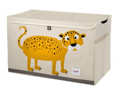 3 Sprouts Toy Chest, Leopard, Orange