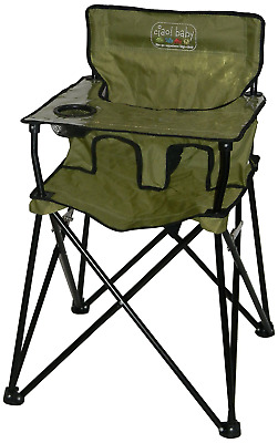 Ciao! Baby Portable High Chair, Sage with Carrying Case, 1 Pack
