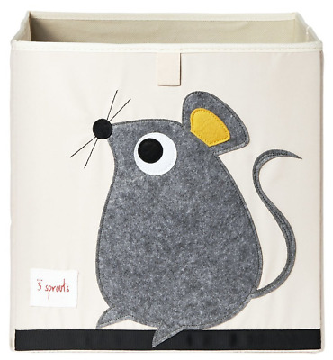 3 Sprouts Storage Box, Grey Mouse