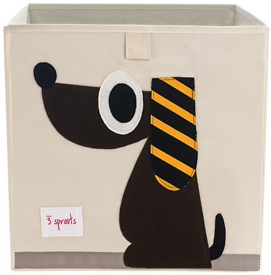 3 Sprouts Storage Box, Dog, Brown