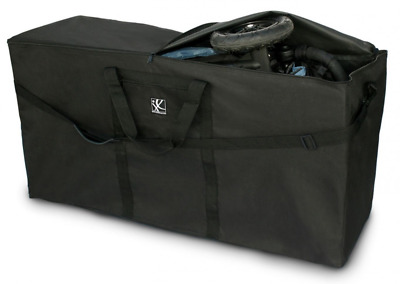J. L. Childress Heavy Duty Travel Bag for Standard and Dual Strollers, Black, 1