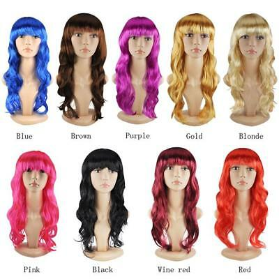 Women's Sexy Long Curly/Straight Fancy Dress Full Wigs Cosplay Costume Wig Party