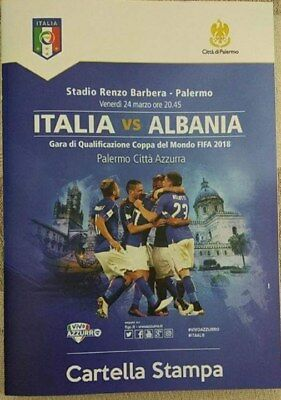 Official programme Italy v Albania 2017 World Cup Qualifying