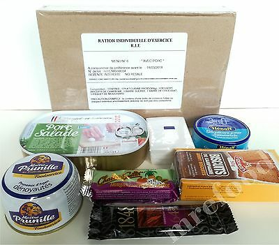 French Military RIE MRE Food Ration 1 Meal Menu Survival Box Emergency Pack 2018