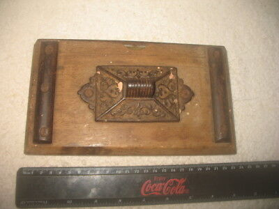 Vintage Tool Unknown Spirit Level Timber Steel Ornate Collectible