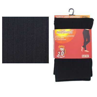 Womens Thermal Leggings Ladies Ribbed Fleece Lined Winter Leg Warmers Base Layer