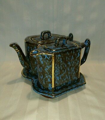 Wades Pottery England Tea Pot Pitcher and Underplate