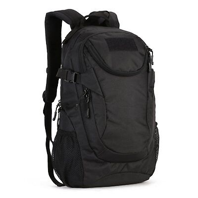 25L Military Tactical Backpack MOLLE Pack Hunting Camping Trekking Bag Black AU