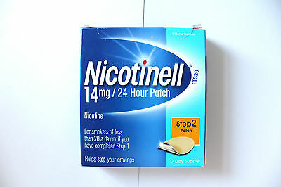 Nicotinell Step 2 14mg Patch - 7 Day Supply - 24 Hour Support exp 07/2017