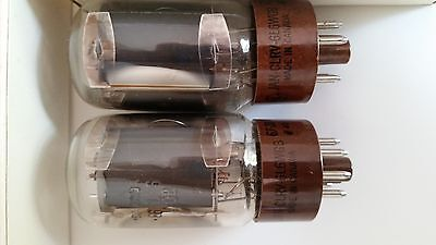 Two (2) x General Electric 6L6WGB Electron / Vacuum Tubes / Valves