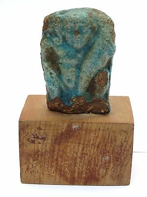 Ancient Egyptian Faience Figure of Horus God 1000-600 BC