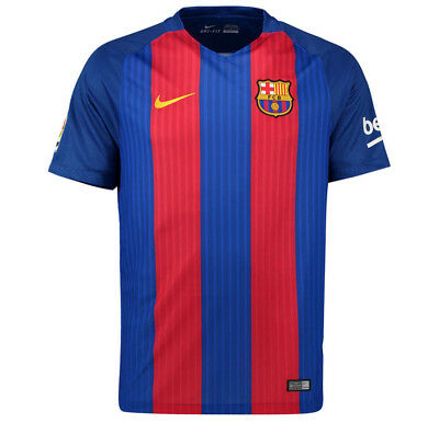 Barcelona Mens Nike 2016/17 Home Shirt 'MESSI 10' (Large)