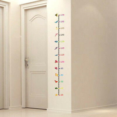 Height Growth Chart Measurement Nursery Animal Kids Room Wall Sticker Mural 170