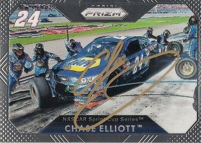 Chase Elliott NAPA CHEVY #24 HMS PIT SHOT GOLD SIGNED 2016 PANINI PRIZM card