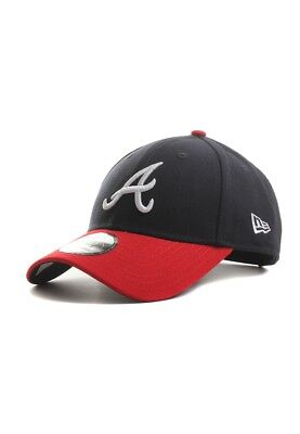 New Era The League 9FORTY Adjustable Cap Atlanta Braves Dark Blue Red