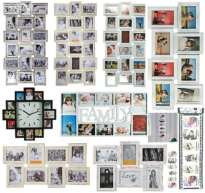 Hanging Photo Frame Multi Aperture Picture Frame Clock Family Photo Collage New