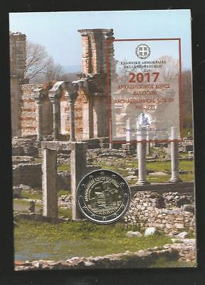 "Coin card 2 EURs 2017 ""Archaeological site of Philippi"" !"