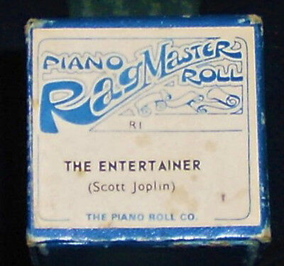 "RAGMASTER 88-note PIANOLA ROLL - R1 ""THE ENTERTAINER"" Joplin arranged Farrell"