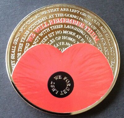 2017 POPPY £5 Five Pound Coin, Bailiwick of Jersey - Lest We Forget, New