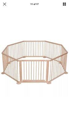 8 Sided Wooden Playpen