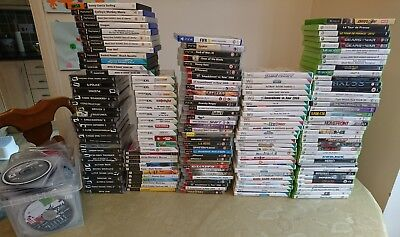 Mixed Job Lot of 350 Games - Wii, Xbox 360, PS1/2/3/4, DS - Free Postage