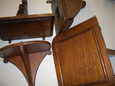 Old wooden wall brackets