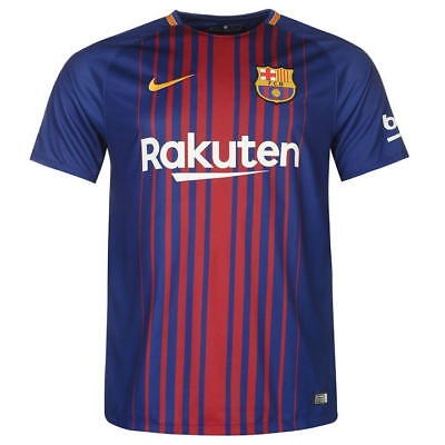 Barcelona Mens Nike 2017/18 Home Shirt 'A. INIESTA 8' (Medium)
