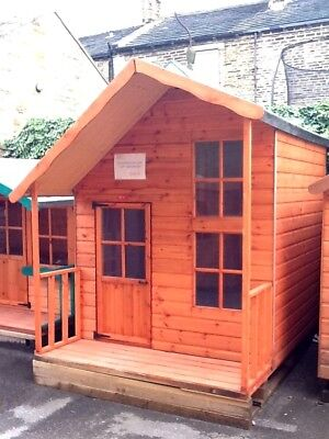 Children's Wooden Playhouse - 2 Storey Fantasia - Fully T&G Outdoor Wendy house