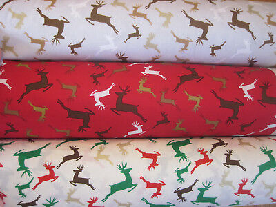 Christmas Fabric By Metre Fat Quarter Xmas Gold Silver Craft Festive Advent Noel