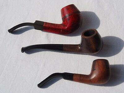 Lot 3 Vintage Tobacco Smoking Pipe  Ms. Brog 55 Old mill other  (K6)