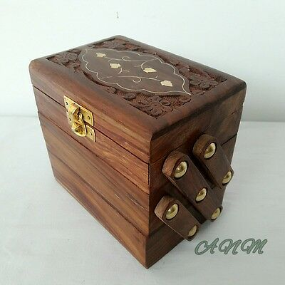 Antique Wooden Box Beautiful Style Vintage Decorative Gift Item