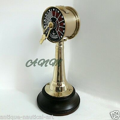 Solid Brass Ships Engine Maritime Small Telegraph Desktop Item Gift