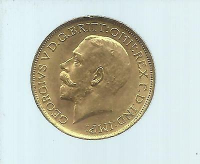 Full Sovereign 1918, George V, Circulated Gold Coin.