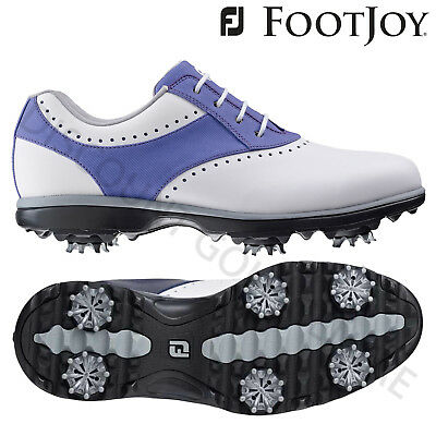 Footjoy Ladies Emerge Wide Golf Shoes White/Purple CLEARANCE