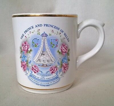 Poole Pottery Commemorative Mug. Birth of Prince William - 1982. VGC