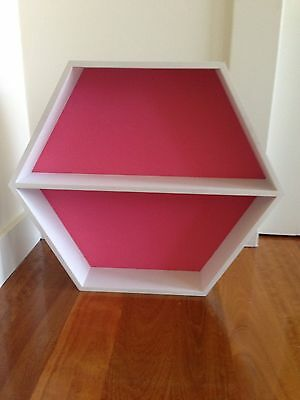 Hexagon Shadow Box / Wall Shelf