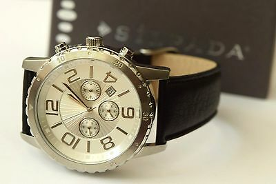 Silpada Truly Classic Watch Leather Band Stainless Deployment Strap T3174