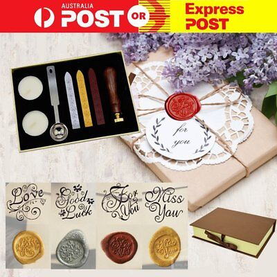 Gift Vintage Seal Sealing Wax Stick Stamp Set  Letters Wedding Party Invitation