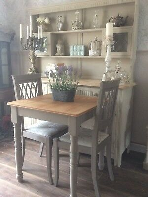 Shabby Chic Farmhouse Dining Table And Chairs Cream PicClick UK