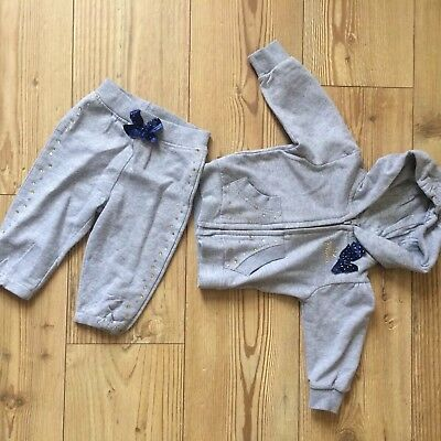 Baby Girls Winter Grey Tracksuit 9-12 Months