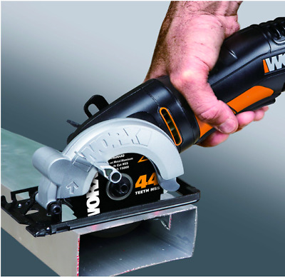WORX 85mm 400W Compact Circular Saw For Wood Metal Plastic, Single Speed Worksaw