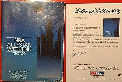1988 NBA All Star Game Program Signed By Michael Jordan Vintage Auto PSA
