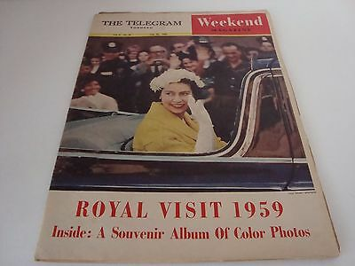 VINTAGE The Telegram TORONTO WEEKEND Magazine AUGUST 22 1959! A Must See!