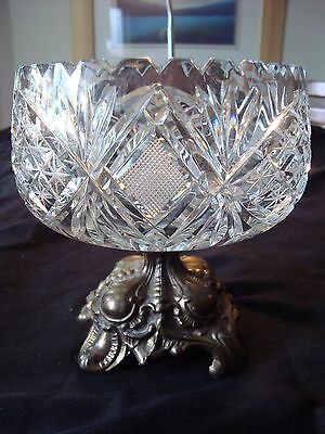 Beautiful VINTAGE CRYSTAL PEDESTAL Candy Dish. A Must See!